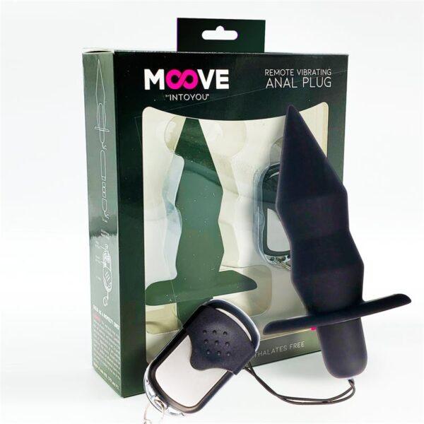 Butt plug Moove med fjernkontroll