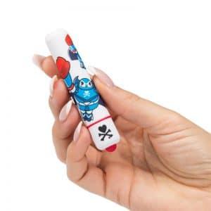 Mini vibratorius TOKIDOKI White Robot